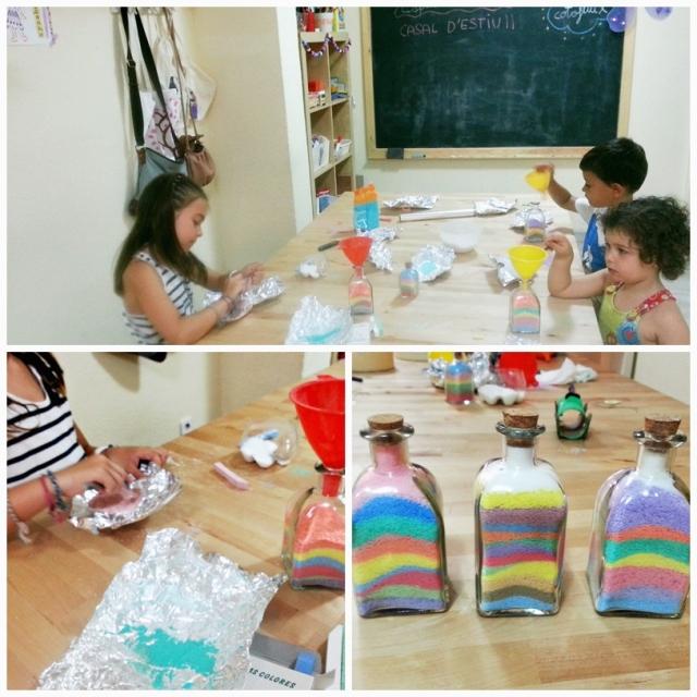 montatge ampolla sorra colors